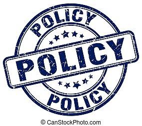 policy blue grunge round vintage rubber stamp