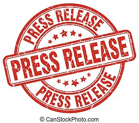 press release red grunge round vintage rubber stamp