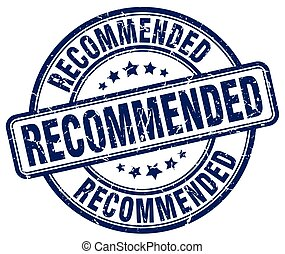 recommended blue grunge round vintage rubber stamp