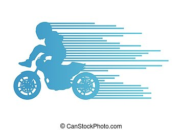 Motorbike rider vector background trick stunt illustration...