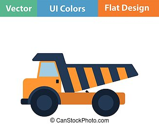 Flat design icon of tipper in ui colors Vector illustration...