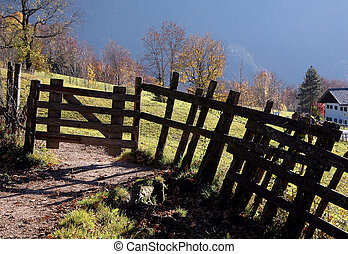 gate on a hiking trail