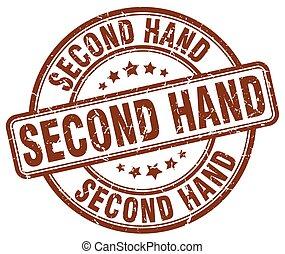 second hand brown grunge round vintage rubber stamp