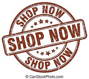 shop now brown grunge round vintage rubber stamp