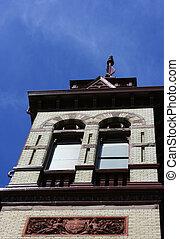 Historical Court House - Historical court house tower in...