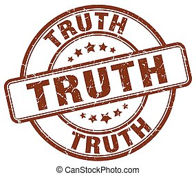 truth brown grunge round vintage rubber stamp