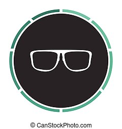 Glasses computer symbol - Glasses Simple flat white vector...