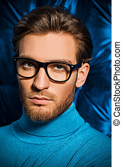spectacles - Imposing young man in spectacles. Men's beauty,...