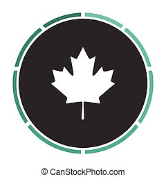 Canadian Leaf computer symbol - Canadian Leaf Simple flat...