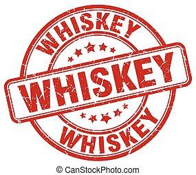 whiskey red grunge round vintage rubber stamp