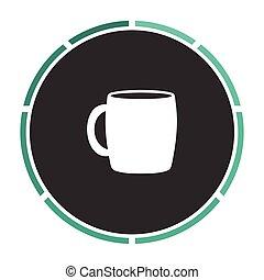 Tea cup computer symbol