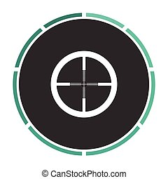 Crosshair computer symbol - Crosshair Simple flat white...