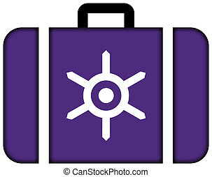 Flag of Tokyo. Suitcase icon, travel and transportation concept