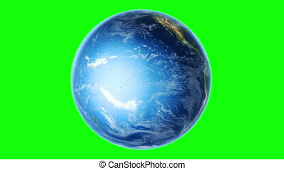Earth Southern Hemisphere on green - Globe is centered in...