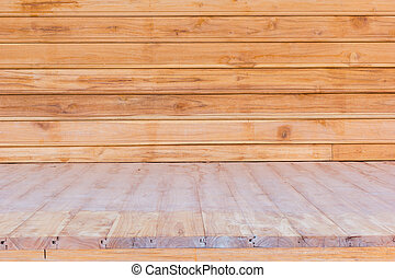 wooden flooring and wall used for background