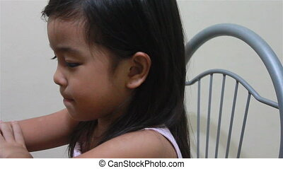 Child ear examination - A doctor examined a childs ear using...