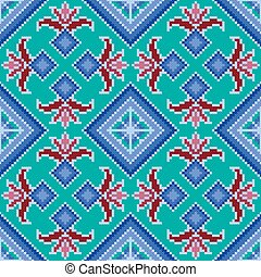 Ethnic Ukrainian multicolour broidery - Ethnic Ukrainian...