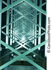 it is a metal Construction of bridge in macau