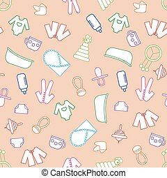 Seamless toys background - Toys background Seamless pattern...
