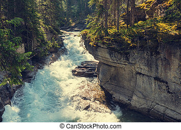 Canyon in Banff NP - Johnston Canyon in Banff NP, Canada