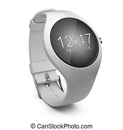 White smart watch on a background
