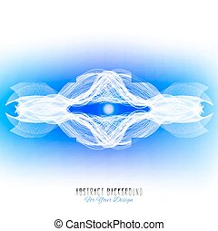 Abstract vector background. Abstract alien organism or cell. White and blue color