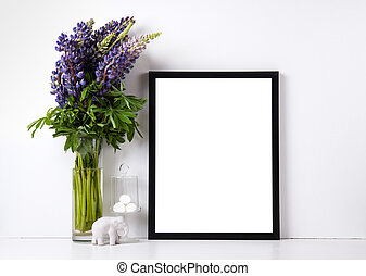 Modern home decor mock-up - Modern home decor with frame and...