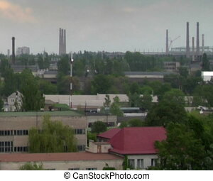 industrial landscape - panoramic view at industrial area...