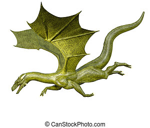 Flying Dragon - Elegant 3d CG rendering flying dragon...