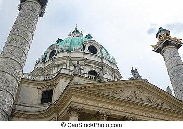 church - architectural detail of the Saint Karl church in...