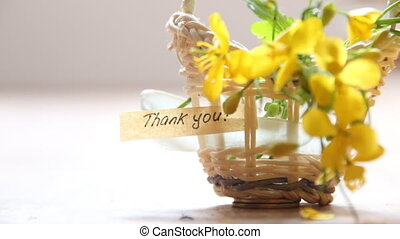 thank you idea text and flowers - thank you letter tag or...