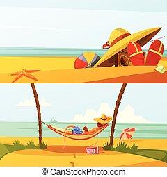 Summer Holiday Banners Set - Summer holiday horizontal...