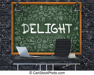 Hand Drawn Delight on Office Chalkboard - Hand Drawn Delight...