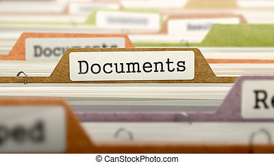 Documents on Business Folder in Catalog - Documents on...