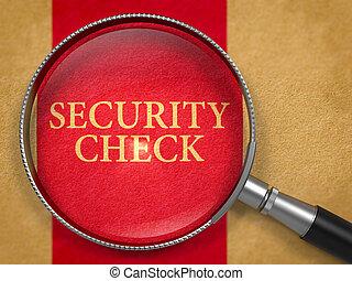 Security Check Concept through Magnifier - Security Check...