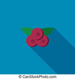 Bilberry icon, flat style - Bilberry icon in flat style with...
