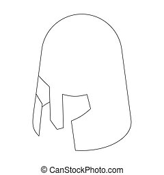 Helmet crusader icon, isometric 3d style isolated on white...