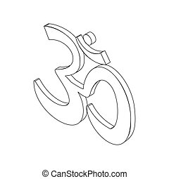 Om sign, isometric 3d