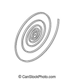 Spiral icon in isometric 3d style