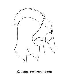 Helmet roman icon, isometric 3d