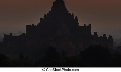 sunrise in bagan, myanmar timelapse