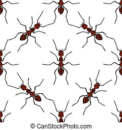 Seamless pattern with ant Formica exsectaVector - Seamless...