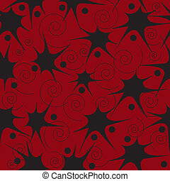Red and black pattern - Seamless pattern from red and black...