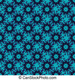 Seamless pattern from blue flowers. - Seamless pattern from...