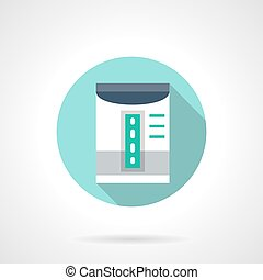 Humidifier device round flat color vector icon - Humidifier...