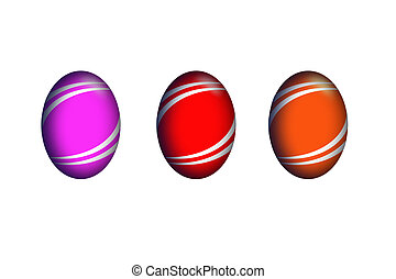 isolated eggs - isolated easter eggs with different colors