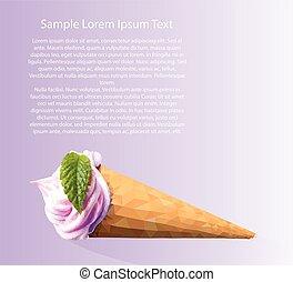 An ice cream postcard