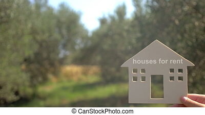 Houses for rent advertising - Advertising of houses for rent...