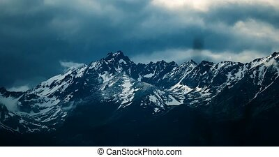 4K, Time Lapse, Epic Doomy Clouds Above High Tatra Mountain...