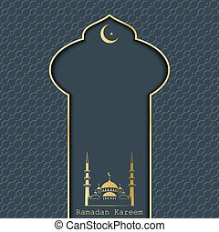 Ramadan Kareem greeting card, vector illustration